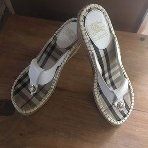Burberry espadrilles wedge sandals